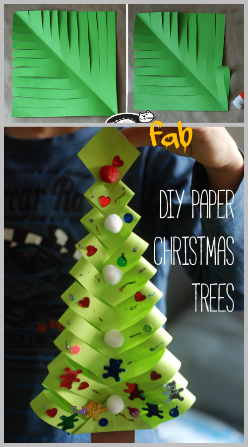 DIY Paper Christmas Tree Ornament/Gift Topper Tutorial-Video
