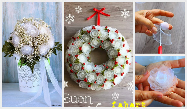Diy Plastic Egg Tray Rose Flower Christmas Wreath Tutorial