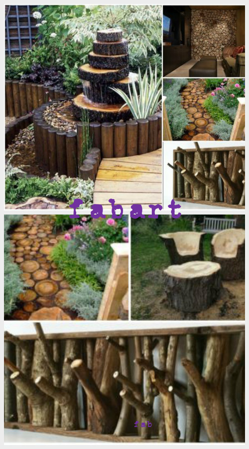 DIY Rustic Log-Decorating Ideas for Home Garden
