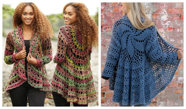 Fall Festive Circle Jacket Free Crochet Patterns
