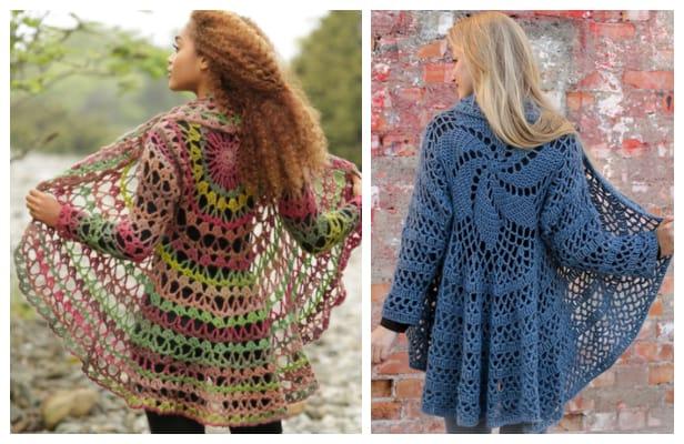 DIY Fall Festive Crochet Circle Jacket Free Pattern