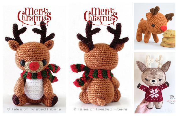 Crochet Rudy The Reindeer Amigurumi Free Patterns