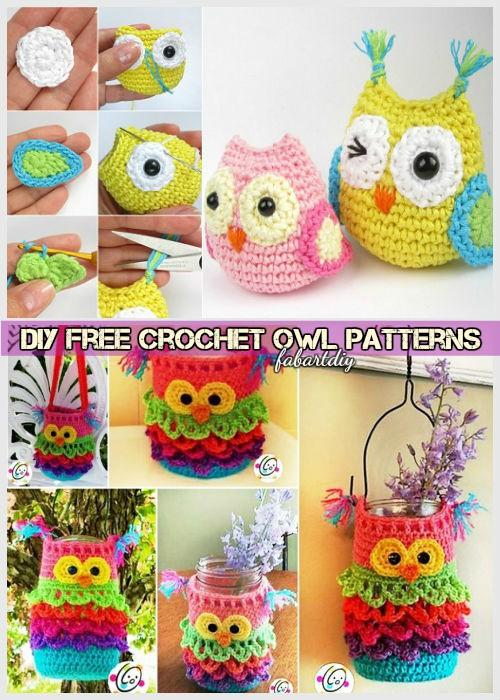 DIY Crochet Owl Free Patterns Round Up