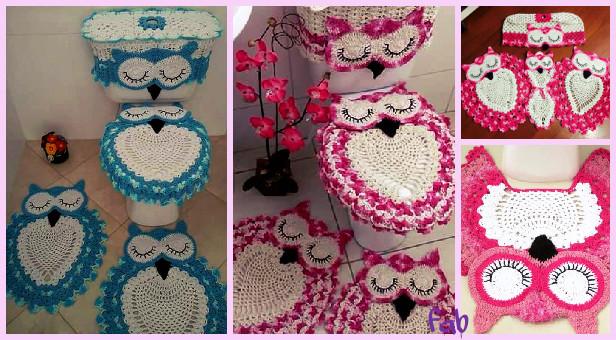 Stupendous Diy Crochet Owl Toilet Tank Seat Bathroom Set Cover Free Pattern Dailytribune Chair Design For Home Dailytribuneorg