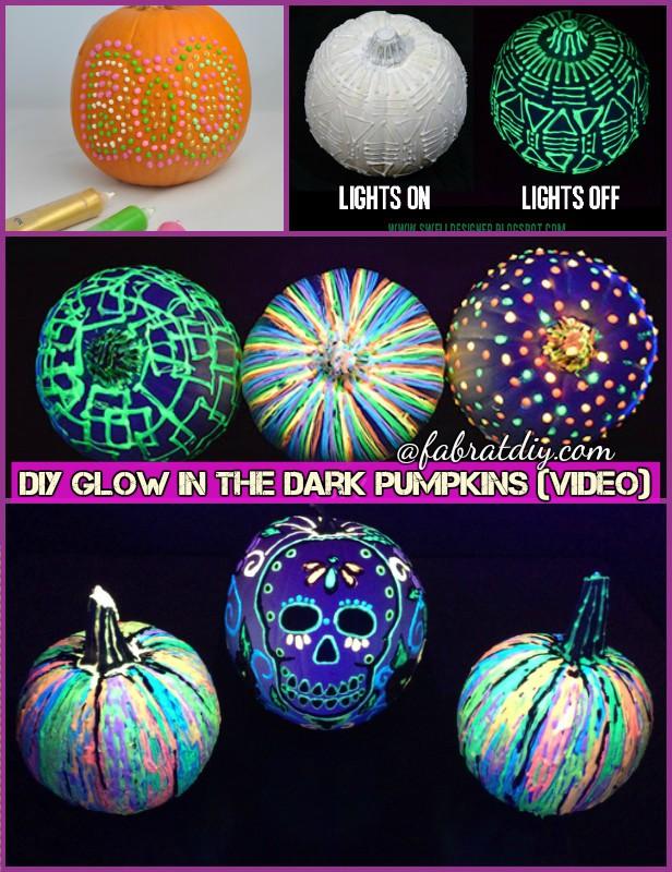 DIY Glow in the Dark Paint Pumpkin Tutorial
