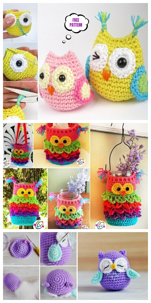 DIY Free Crochet Owl Patterns Roundup