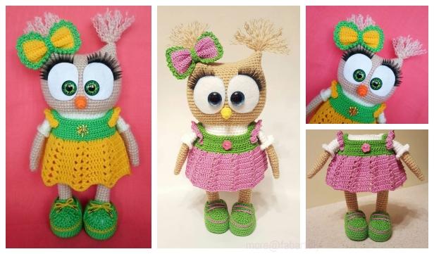 20+ DIY Free Crochet Owl Patterns | 361x616