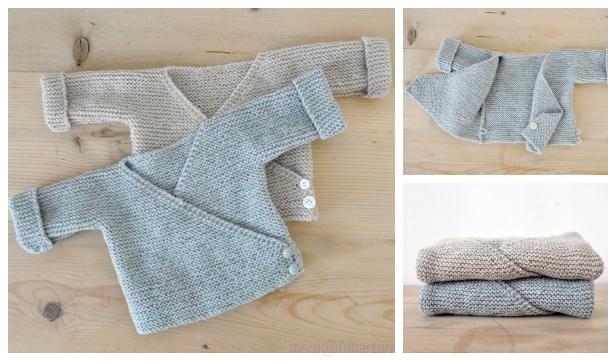 0e8da1773 Easy Knit Baby Kimono Cardigan Free Patterns