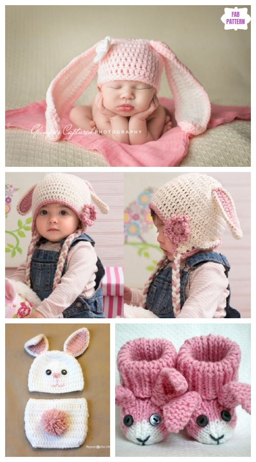 Crochet Easter Bunny Baby Gifts Free Patterns