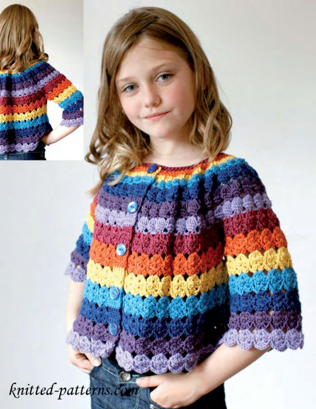 Crochet Girls Cardigan Free Patterns