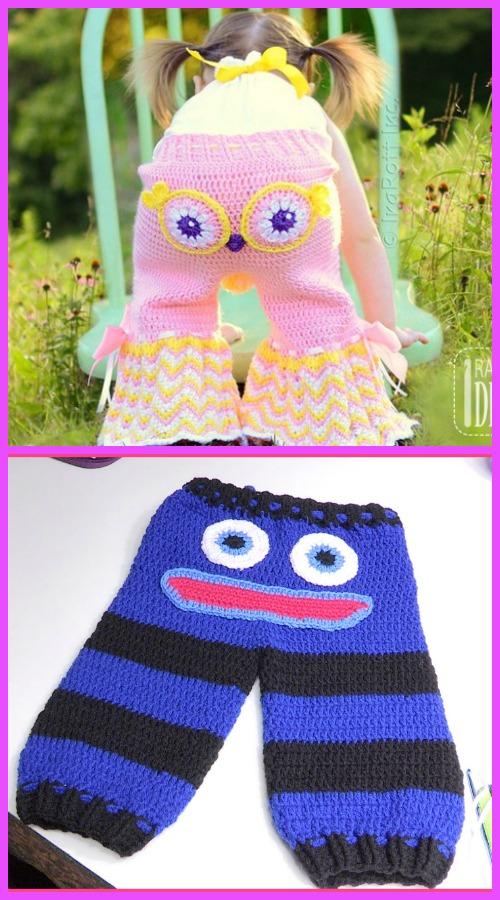 Crochet Kids Monster Pants Free Patterns