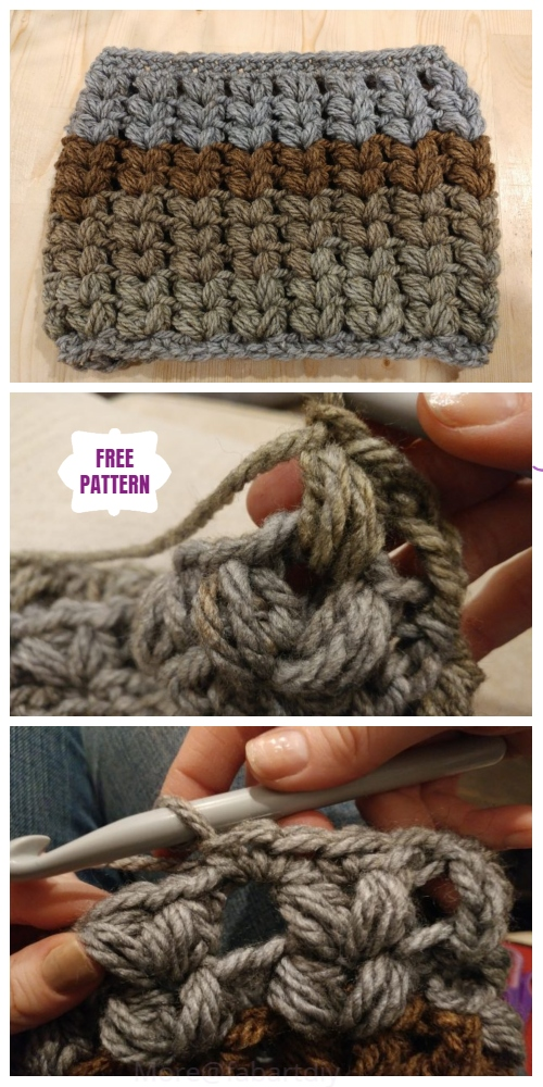 Crochet V Puff Stitch Cowl Free Crochet Patterns - Video