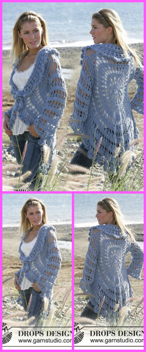 Crochet Woman Circle Jacket Free Patterns