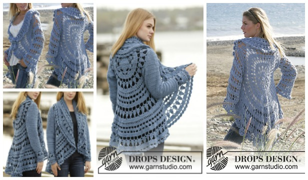 Crochet Woman Circle Jacket Free Patterns
