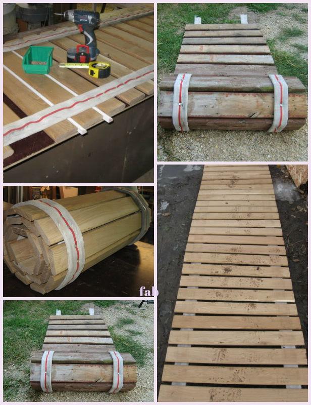Diy Pallet Wood Roll Up Sidewalk Tutorial