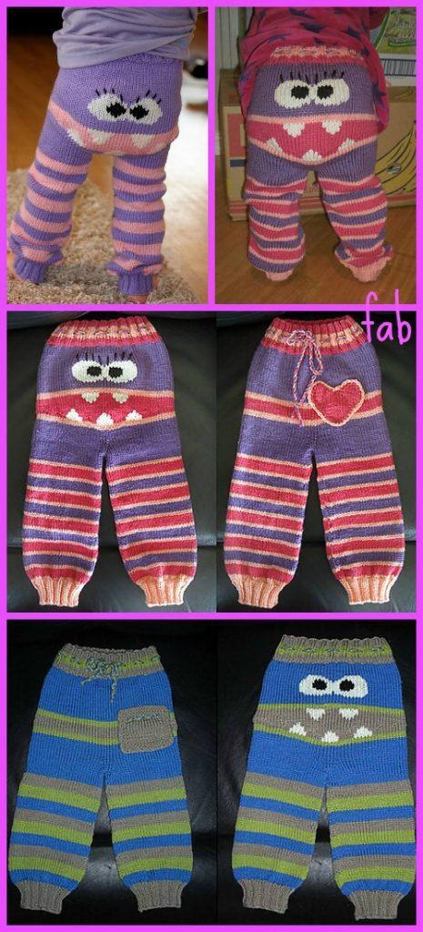 Knit Kids Monster Pants Longies Free Patterns