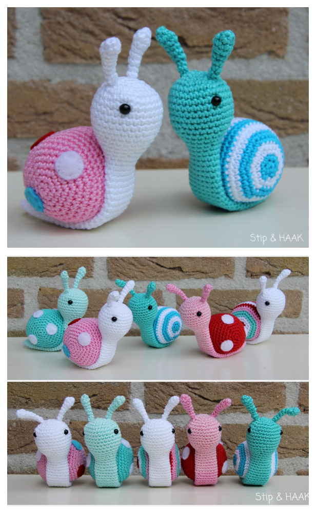 Amigurumi Snail Free Crochet Patterns