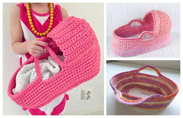 Crochet Cradle Basket Baby Carrier Free Pattern