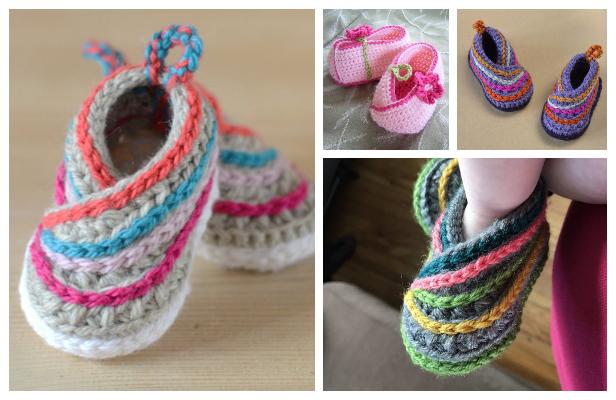 Baby Kimono Slipper Booties Crochet