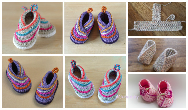 e9cd5273f0e4 Crochet Baby Kimono Slipper Booties Pattern