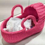 fabartdiy Crochet Cradle Basket Baby Carrier Free Pattern 3
