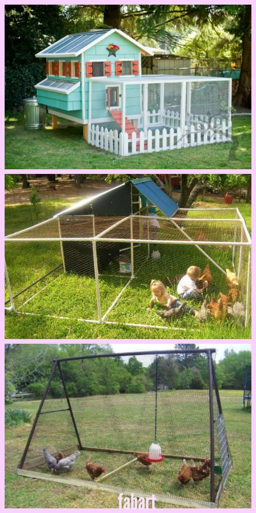 DIY Backyard Chicken Coop Plans Tutorials