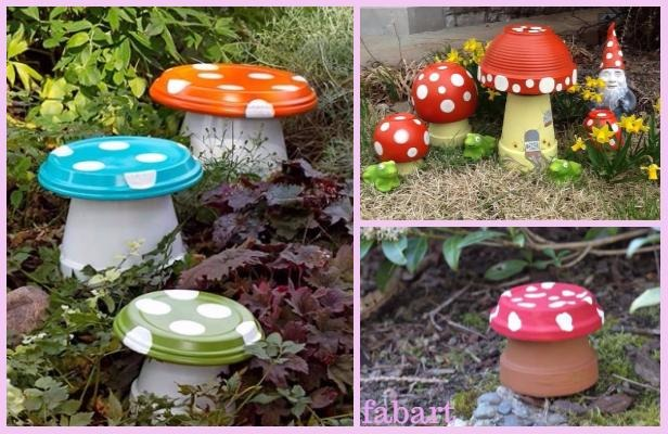 Diy Clay Pot Mushroom Toadstool Tutorialsv