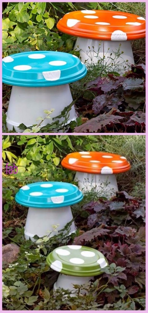 DIY Clay Pot Mushroom Tutorials