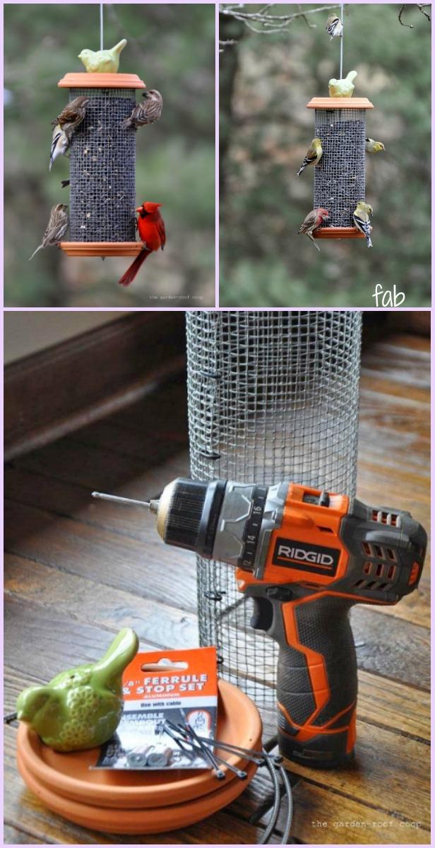 DIY Sunflower Tower Bird-Feeder Tutorial