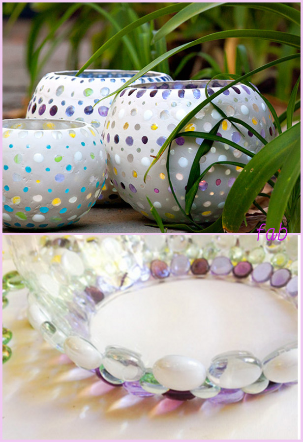DIY Flat Glass Marble Luminary Tutorial