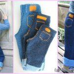 DIY Knit Baby Jeans Free Pattern