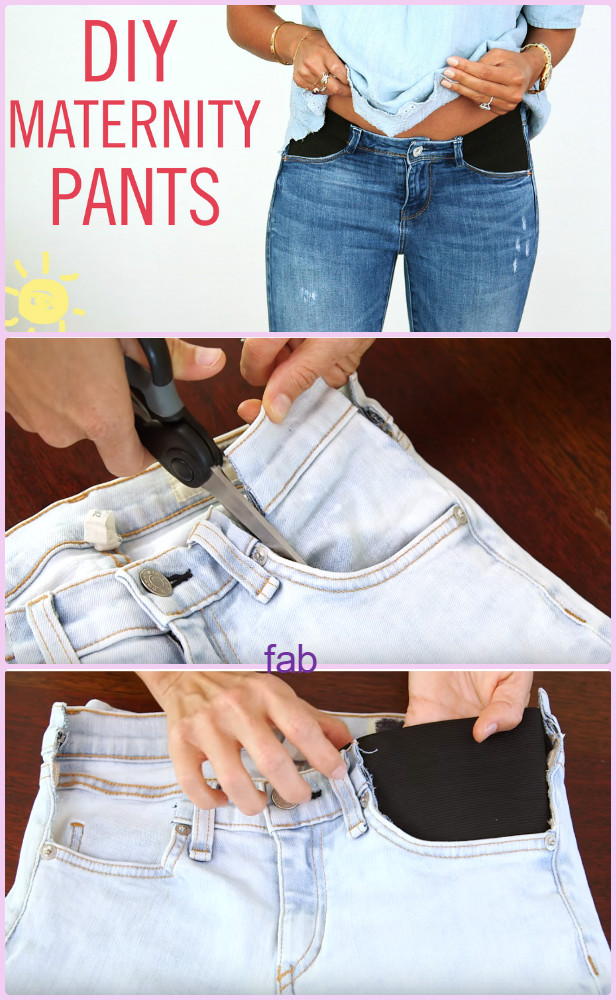 DIY Maternity Jeans Hack Tutorial-Video