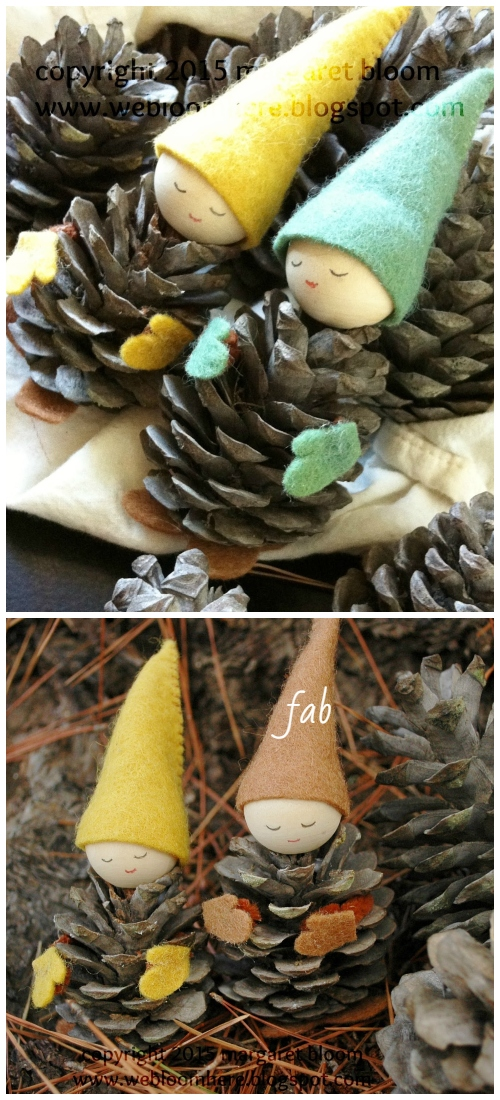 DIY Pinecone Fairy Tutorials