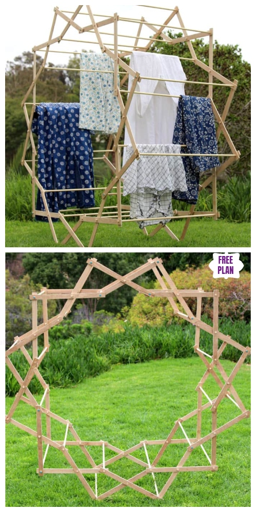 DIY Star Shaped Laundry Drying Rack Tutorial