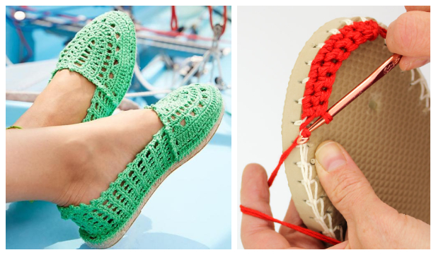 Women Espadrilles Shoes Free Crochet Patterns & Paid