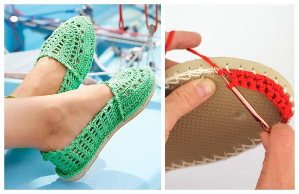 Crochet Espadrilles Flip Flop Shoes Free Pattern