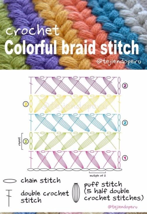 Crochet Braided Puff Stitch Free Pattern Tutorial