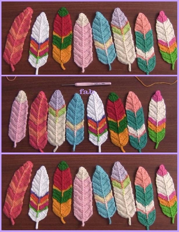 Crochet Feathers Free Patterns Tutorials Video
