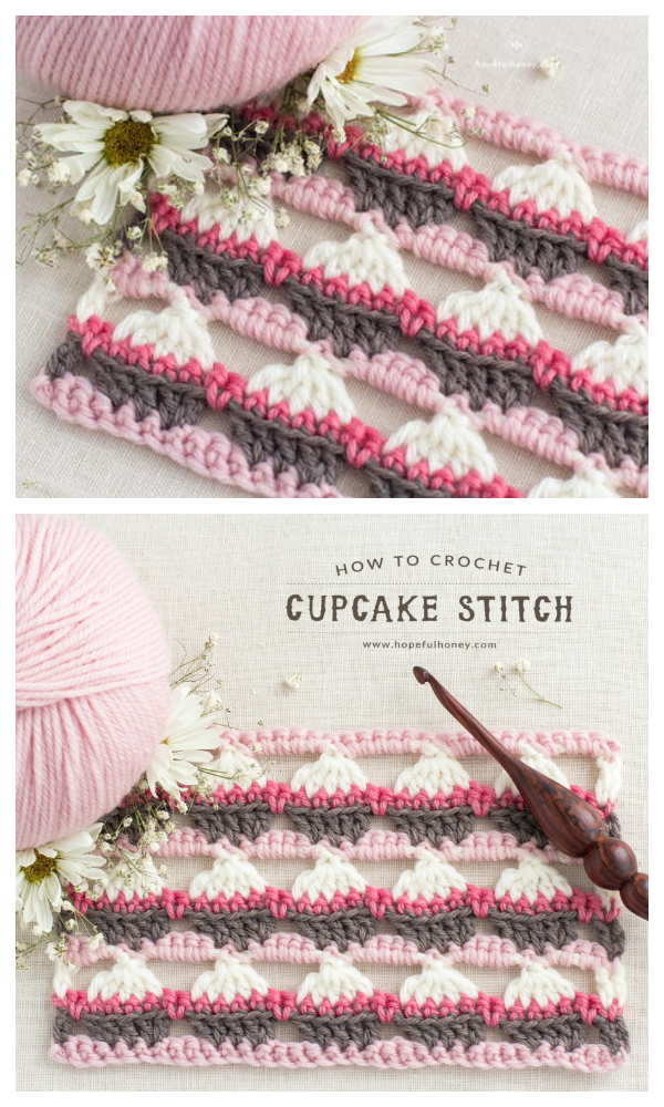 Cupcake Stitch Free Crochet Pattern + Video