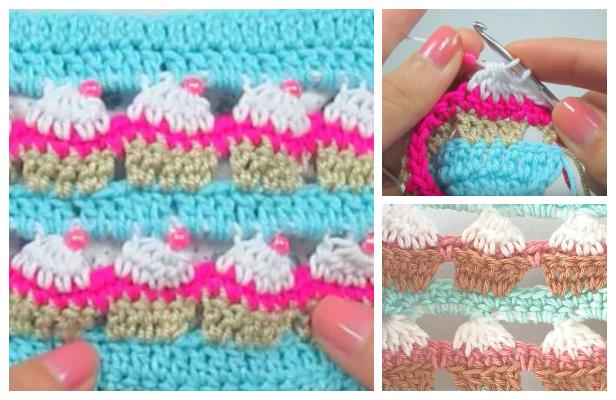 Cupcake Stitch Free Crochet Pattern + Video