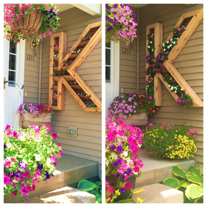 DIY Cedar Monogram Planter Box Tutorial