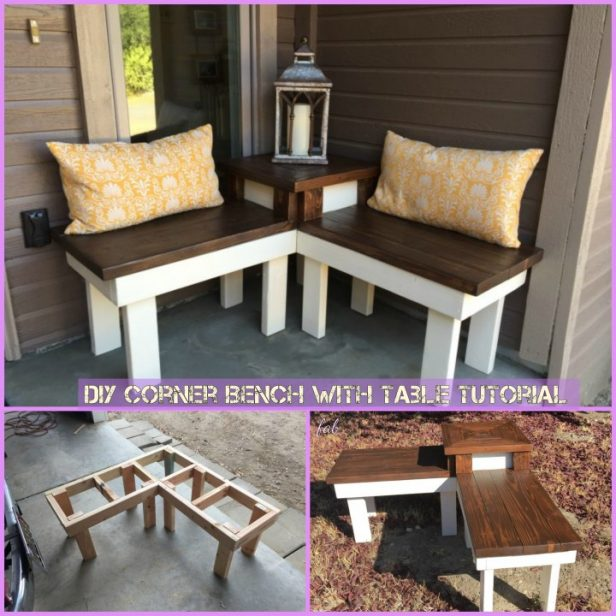 DIY Corner Bench with Table Tutorial