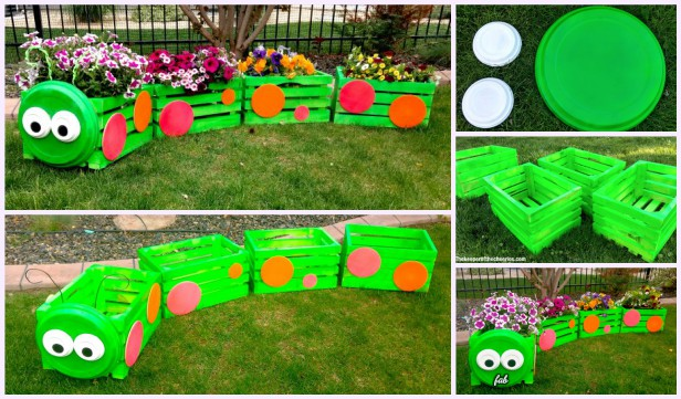 DIY Wood Crate Train Planter Tutorial
