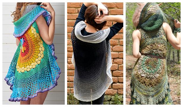 Crochet Lotus Mandala Circular Vest Free Crochet Pattern