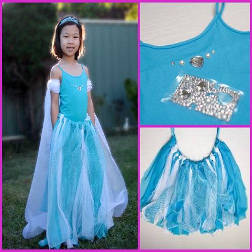 DIY No Sew Elsa Costume Tutorial