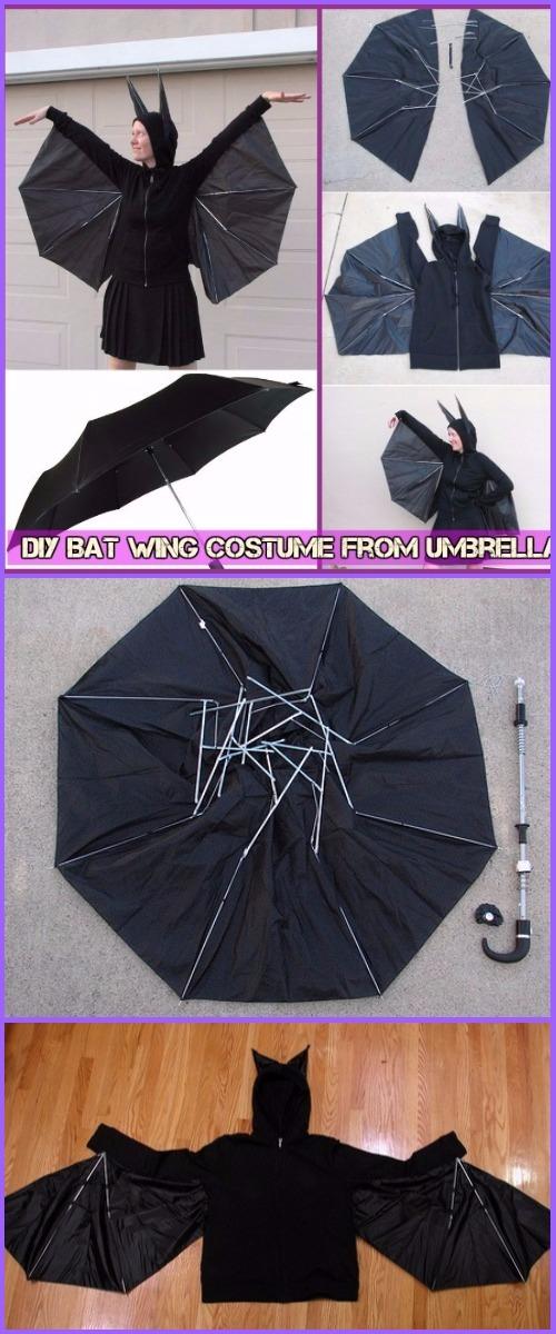 DIY Umbrella Bat Costume Tutorial