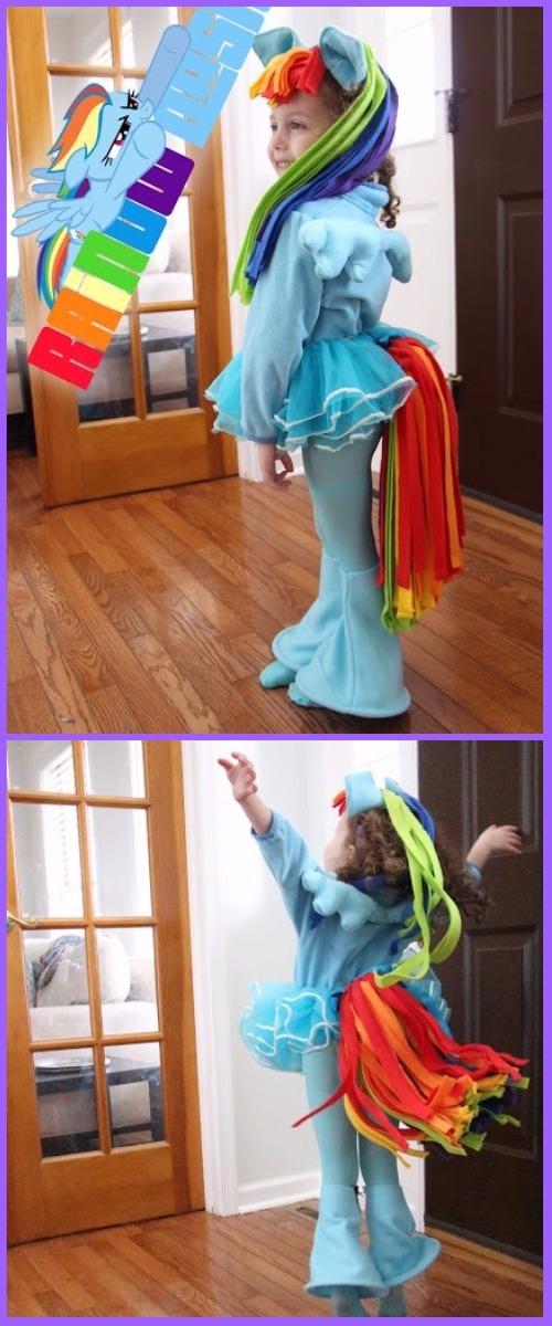 DIY Halloween Rainbow Dash Costume Tutorial