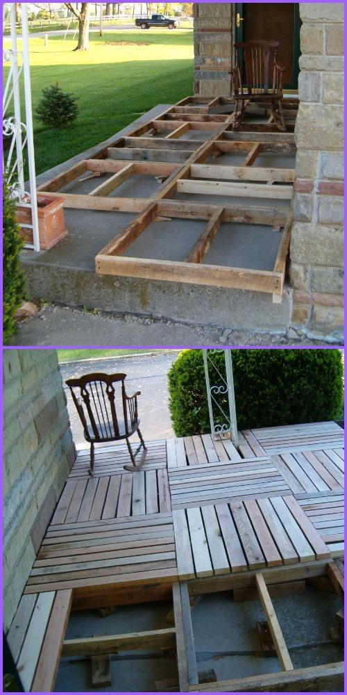 DIY Pallet Wood Porch Tutorial