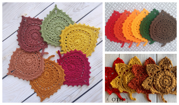 Fun Leaf Coaster Free Crochet Patterns