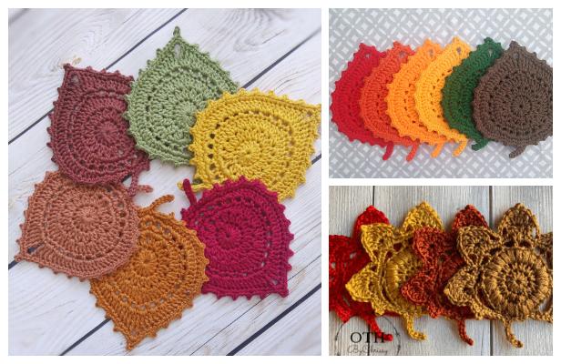 Leaf Coaster Free Crochet Patterns